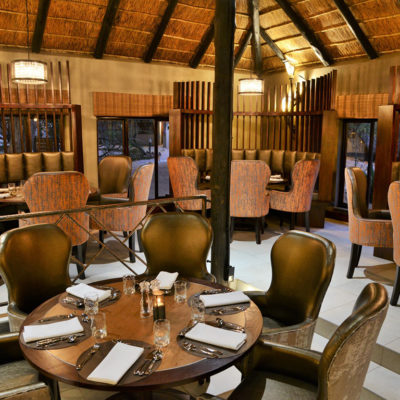Enjoy a buffet-style meal at Mabula Game Lodge's main restaurant