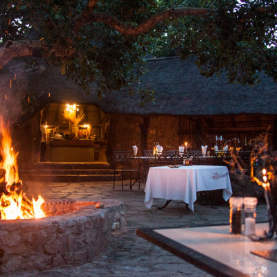 Dine under the stars in Mabula Game Lodge's Boma
