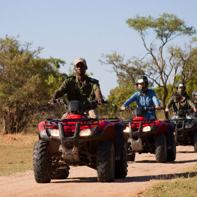 Adventure through the reserve on quad bike