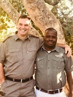 Kobus Havemann - Reserve Manager & Isaiah Banda - Madjuma Manager