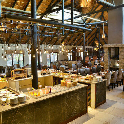 A large buffet to choose from for breakfast, lunch or dinner, prepared by the in-house chefs.