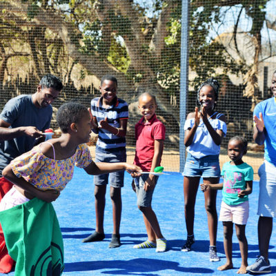 Sack and egg race fun at Mabula Game Lodge.
